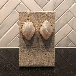 Kendra Scott Gold Drop Earrings In Ivory